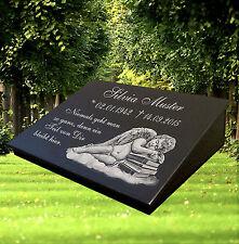 Grabstein Grabplatte inkl.Inschrift, Motiv ca.40x30cm Granitsockel Grabsteine