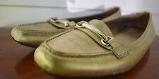 PRADA Gold Driving Shoes / Loafers Size 38 / US Size 8 Used Womens