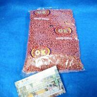 BEADS 4MM CUENTAS BROWN cafe CARMELITA 1-lbs religion yoruba santeria ifa