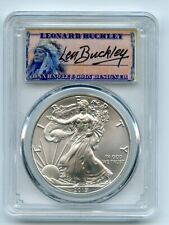 2019 $1 American Silver Eagle 1oz PCGS MS70 First Strike Leonard Buckley