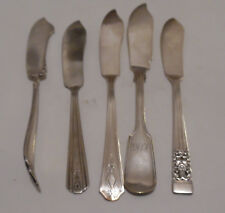 Lot 5 Antique Silverplate Butter Knife Knives Y&T RC Co Rogers Hamilton