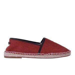 DOLCE & GABBANA Linen Canvas Espadrilles Shoes TREMITI Red Logo 06239