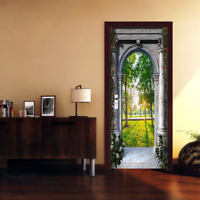 3D Sunshine Arch Scenery Door Sticker Removable Self-adhesive Mural Photo Decal