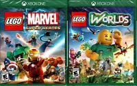 LEGO Worlds & LEGO Marvel Super Heroes Xbox One Both New 2 Great Fun Games