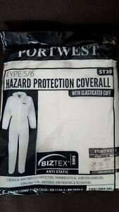 25 Pairs Portwest ST30 Type 5/6 Disposable Overalls Coveralls - XL FREE P+P