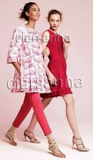 RED Valentino AUTH Hydrangea Pink Butterfly Pleated ALine Skirt Coat Dress 4 NWT