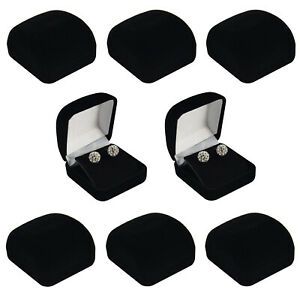 Luxury Velvet Earring Box Drop Stud Presentation Storage Gift Charm Box Wedding
