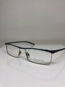 New OGA T95 Eyeglasses Rx Frames C. Silver With Navy Size: 55mm Made in France