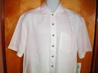 NWT NEW mens size S off white BATIK BAY s/s rayon blend casual shirt $50