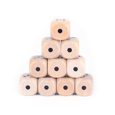 10x wood dice 20mm kid toys game 6 sided dice point style New!