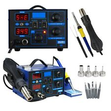 YIHUA 2 in 1 SMD Hot Air Gun Soldering Iron Station Rework Welder 4 Nozzle 862D+