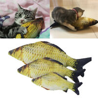 Funny Cat Pet Toy Fish Shape Fish Pillow Chewing Play Catnip Scratch Squid Toys