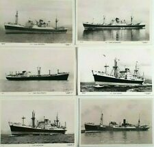 More details for clan line ships photos & rp postcards x 6 - vintage shipping - merchant navy -