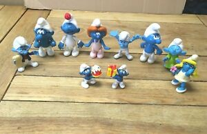 Smurf  bundle Mc Do Joker With Gift  Smurf with cake. various others 10 in total