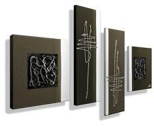 Bild -HANDGEMALT- Gemälde Leinwand Kunst modern Abstrakt XXL Bilder Unikat Braun