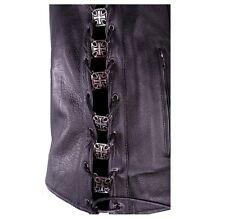 Iron Cross Lace-Up Biker Vest Extenders-#AC1200