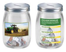 John Deere Glass Savings Jar - Collecters Item - Free Shipping