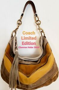 Coach Limited Edition Chevron Hobo Handbag 3664