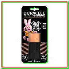 Duracell Powerbank 6700mAh Caricatore Esterno Rapido per Smartphone e Dispositivi USB - Nero/Rame