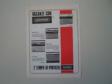 advertising Pubblicità 1967 RADIO GRUNDIG RECORD BOY/PRIMA BOY/MUSIC/ELITE