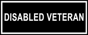 """Pair of Patches - """"DISABLED VETERAN"""""""