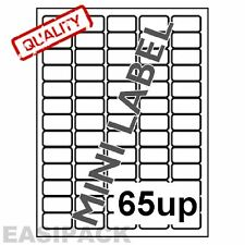 500 Hojas dirección Laser Inkjet Etiquetas 65 arriba del 38 X 21 Mm