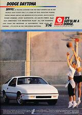 1988 DODGE DAYTONA / 2.5 LITER ~ ORIGINAL PRINT AD