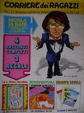 Corriere dei Ragazzi 4 1972 Lucky Luke Valentina Mela Verde + schede rice  [C19]