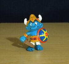 Smurfs 20430 Viking Smurf Sword Shield Vintage Figure PVC Toy Schleich Figurine