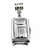 Travel Suitcase Luggage case bag Sterling silver 925 european bead charm Jewelry