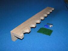 8 gun - wood closet gun rack - solid oak construction