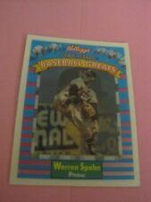 WARREN SPAHN baseball card 1991 Kelloggs #12 Sportsflics,  Atlanta Braves