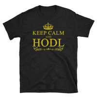 Keep Calm and HODL T-Shirt Funny Crypto Shirt Cryptocurrency Bitcoin Trader Gift