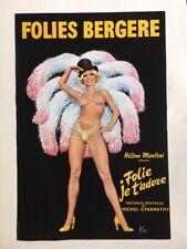 affiche ORIGINALE Folie Bergère 1974 40 X 60 signée ASLAN