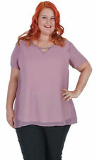 Evening, Occasion Curvaceous Solid Tops & Blouses for Women