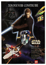 1999 STAR WARS Attack of the Clones Lego ships Vintage Original Print AD France