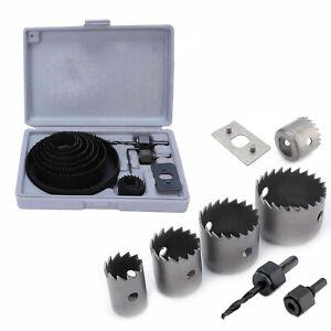 17pc HSS Hole Saw Drill Bit Set Wood Plastic Metal Hole Cutter Tools 19-127mm