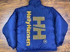 Vintage Helly Hansen Men's Reversible Puffer Down Jacket Blue Yellow Size XL