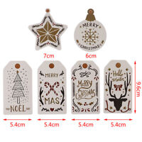 10Pcs Merry Christmas Paper Tags For Christmas  Hang Tag Gift Wrapping Supplies