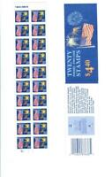 Booklet BK 156 20 22c stamps US Flag and fireworks  great condition!