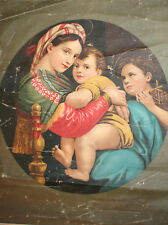 Antique Italian canvas print Raffaello Sanzio Raphael reproduction