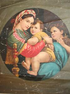 Antique Italian canvas print Raffaello Sanzio Raphael reproduction