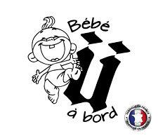 Sticker autocollant Bébé à Bord - UNKUT Ref: bbab136