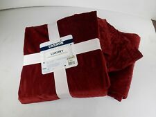 TWO PACK Cannon Luxury Embossed Micromink Throw - 50 in x 60 in - Wine Color