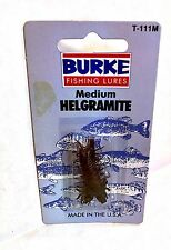 Burke Vintage Fishing Lure Medium Helgramite T111-M