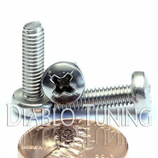 M4 x 14mm - Qty 10 - Stainless Steel Phillips Pan Head Machine Screws DIN 7985 A