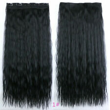 5Clips Yaki Kinky Straight Clip in Hairpieces Curly Synthetic Hair Extensions