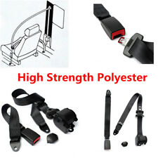 Universal Retractable Polyester 3 Point Auto Car Vehicle Safety Seat Lap Belt