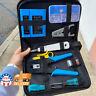 Rj45 Crimping Tool Kit Set For CAT5/CAT6 Lan Cable Tester Network Repair Tool US