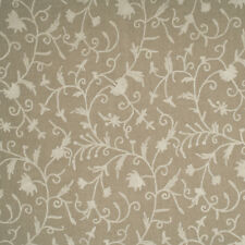 CREWEL EMBROIDERED  CREAM/NATURAL LINEN FABRIC